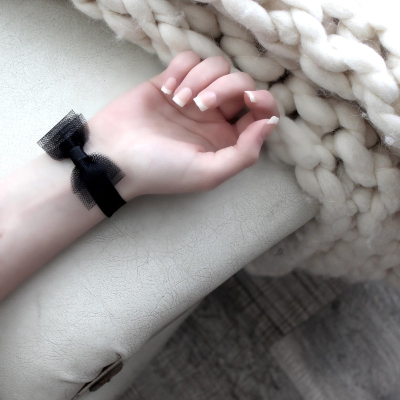 Duchess Black Bow Bracelet