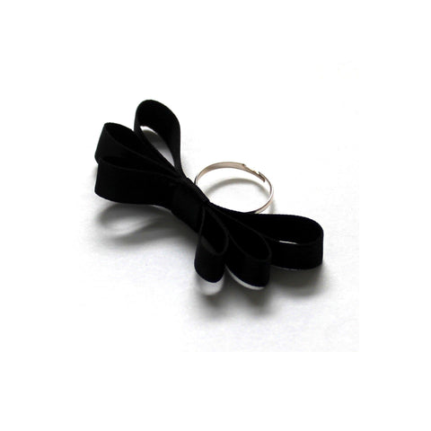 Highness Black Bow Ring