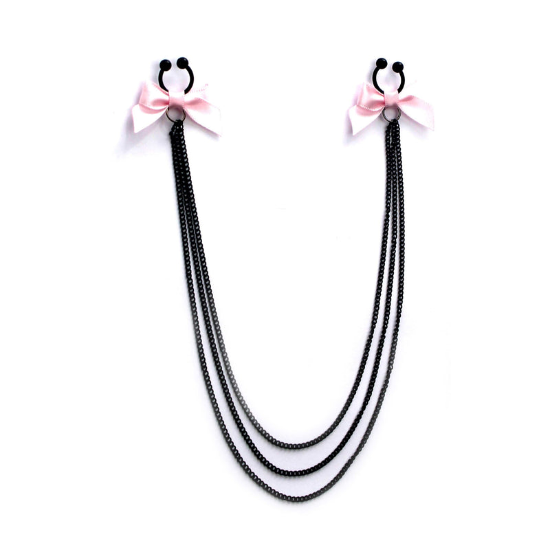 Pink Bow Nipple Clamps