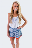 Pom Pom Shorts - Blue and Orange