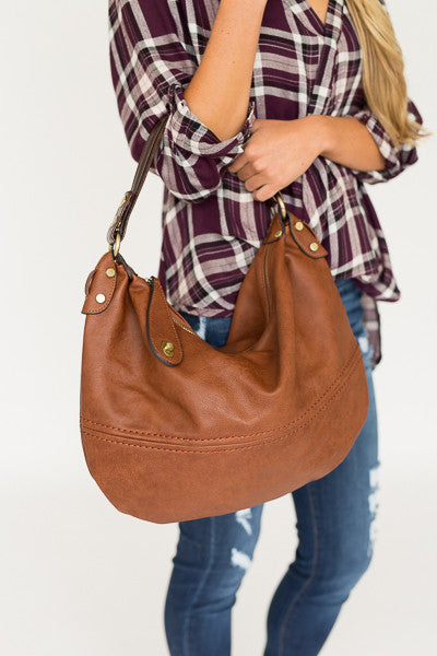 Chestnut Hobo Bag - J&J Petite Boutique - 2
