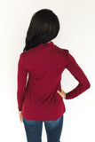 Elliot Keyhole Top - Wine - J&J Petite Boutique - 3