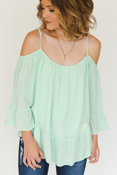 RESTOCK - Susan Cold Shoulder Top - J&J Petite Boutique - 3
