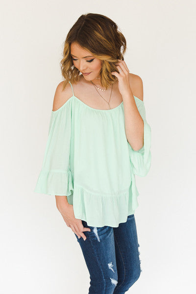 RESTOCK - Susan Cold Shoulder Top - J&J Petite Boutique - 5