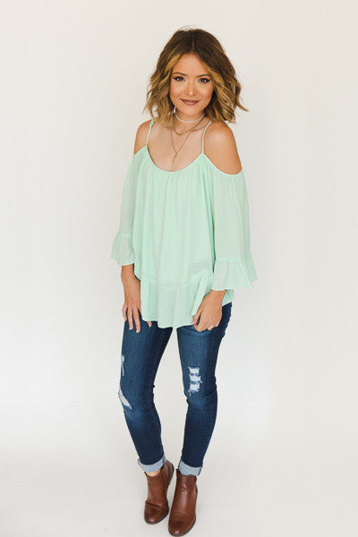 RESTOCK - Susan Cold Shoulder Top - J&J Petite Boutique - 1