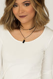 Black Layered Necklace - J&J Petite Boutique - 1