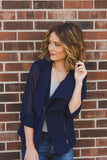 RESTOCK - Lily Top/Jacket - Navy - J&J Petite Boutique - 1