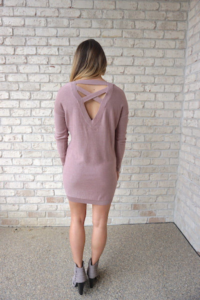 Madison Sweater Dress - Blush