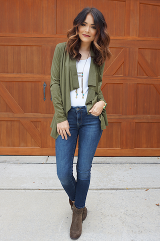 Penelope Top - Olive