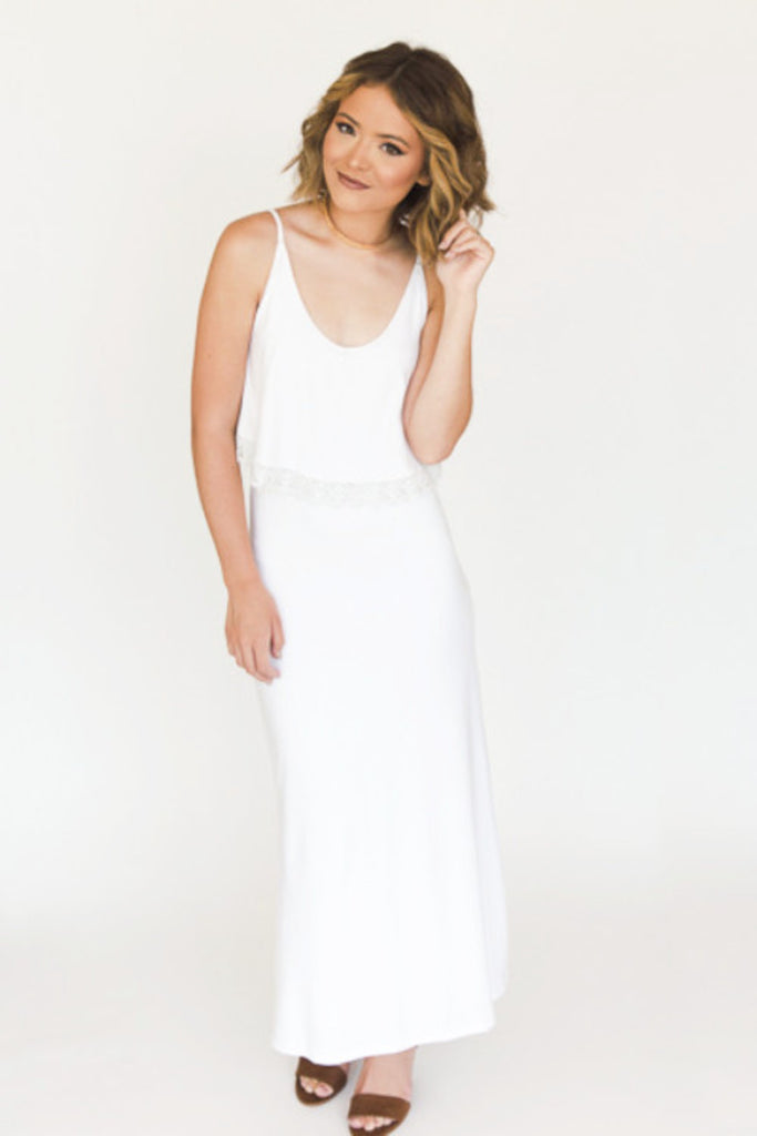 The Heather Maxi - Ivory - J&J Petite Boutique - 2