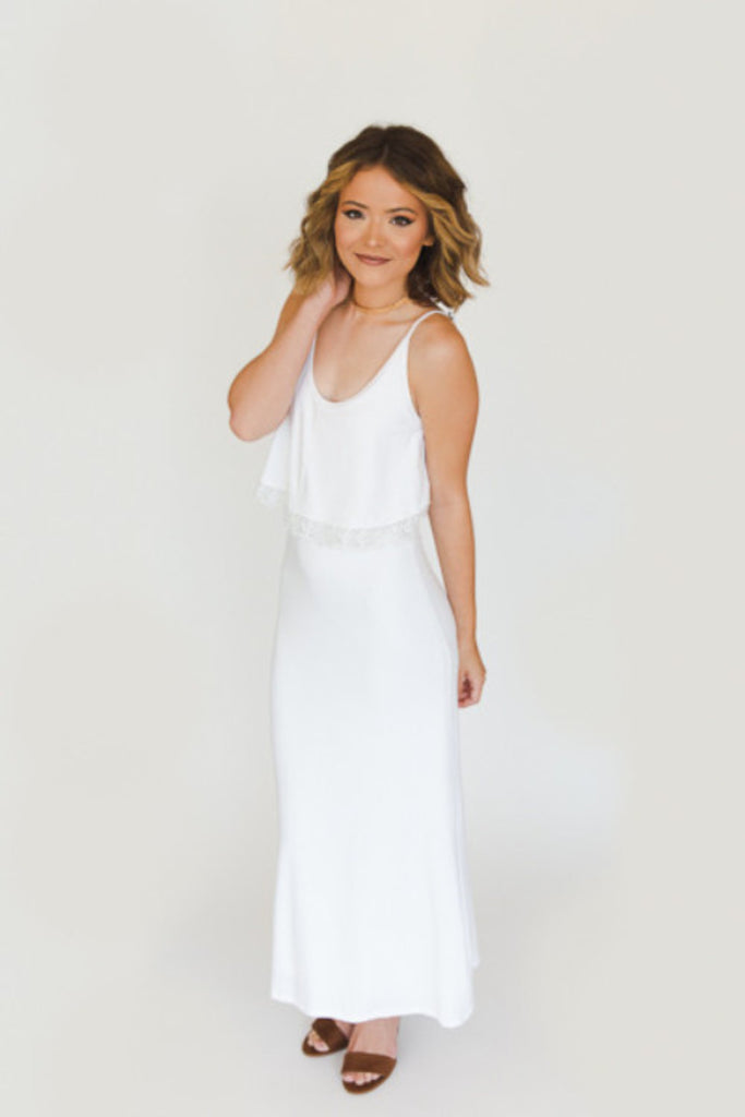 The Heather Maxi - Ivory - J&J Petite Boutique - 3