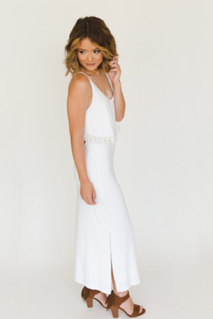 The Heather Maxi - Ivory - J&J Petite Boutique - 5