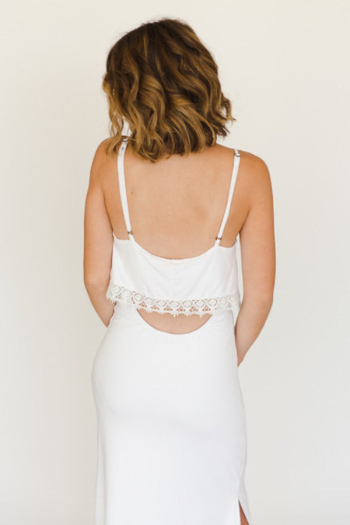 The Heather Maxi - Ivory - J&J Petite Boutique - 6