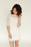 Liliah Dress - White - J&J Petite Boutique - 2