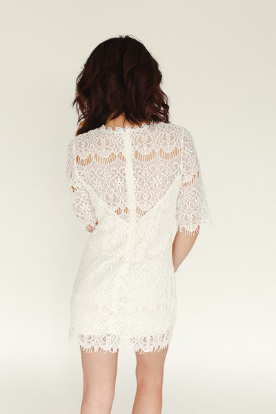 Liliah Dress - White - J&J Petite Boutique - 3