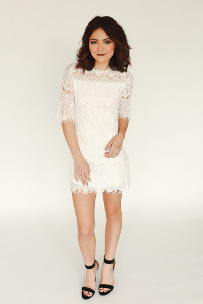 Liliah Dress - White - J&J Petite Boutique - 1
