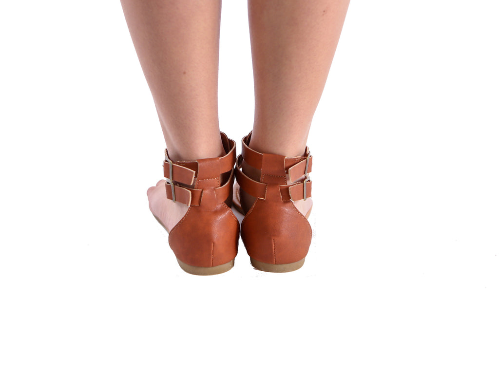 Brown Flat Sandals - Sale - J&J Petite Boutique - 3