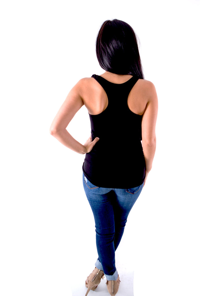 Slimming Racer Back Tank Top - Black - J&J Petite Boutique - 2