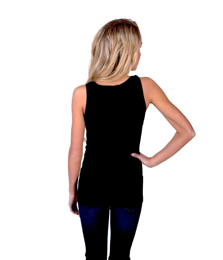 Slimming Rib Tank Top - Black - J&J Petite Boutique - 2