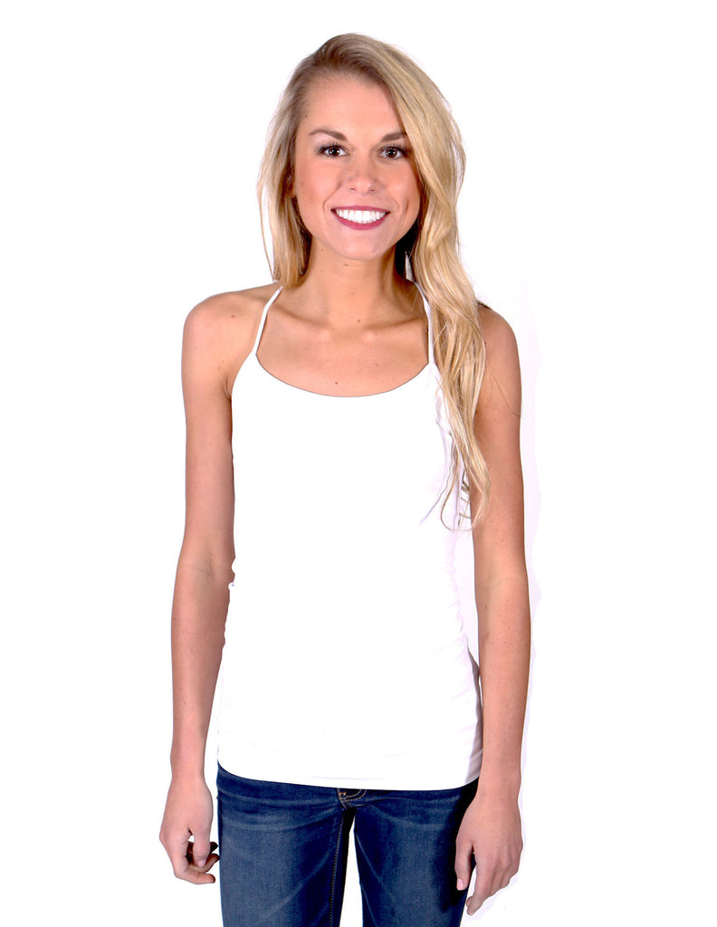 Slimming Y-Strap Seamless Tank Top - White - J&J Petite Boutique - 2