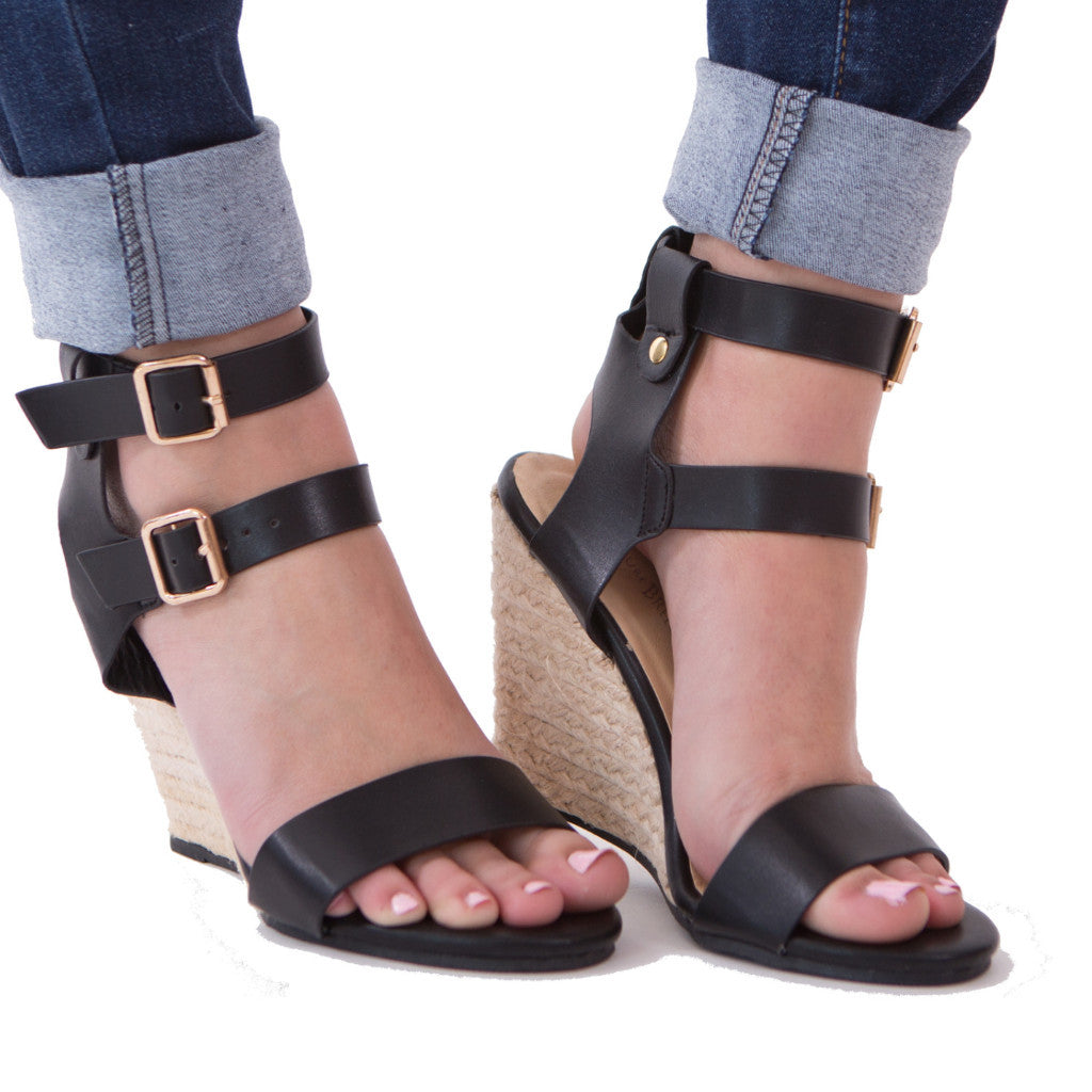 Black Wedge Heel - Sale - J&J Petite Boutique - 1