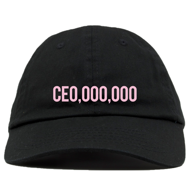 PGLTM Black CEO,000,000 Dad Hat