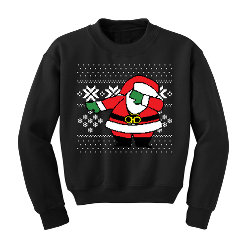 Kid's Dabbing Santa Ugly Christmas Sweater