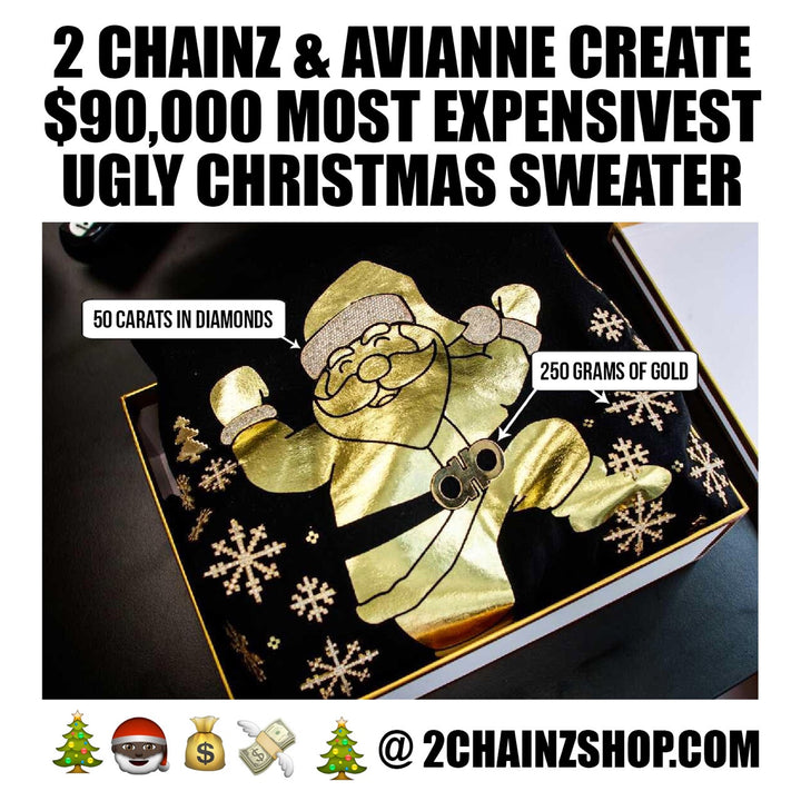 This Is The Worlds Most Expensive Ugly Christmas Sweater, Courtesy of 2 Chainz