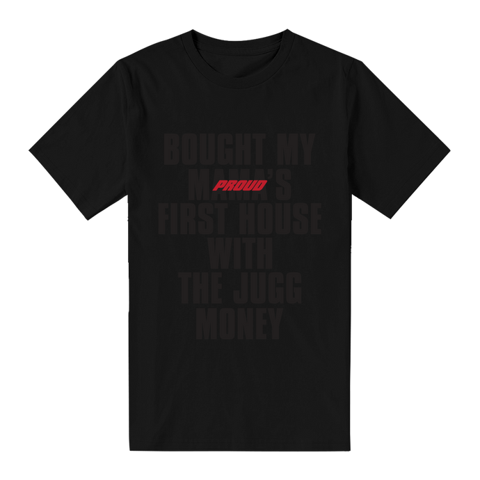 Mama's First House T-Shirt [Black on Black]