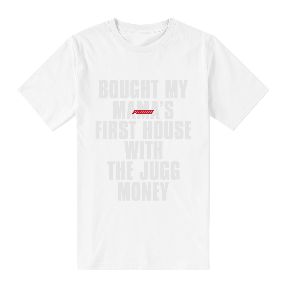 Mama's First House T-Shirt [White on White]