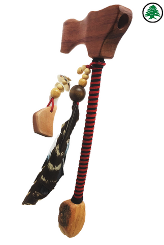 "WOOD PIPE RED AXE 14"", Wood Pipes, Cedar Smoke, Cedar Smoke"