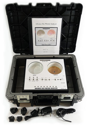 "2019 ABPA A2 Advance Bio-Photon Analyzer PREMIER PACKAGE with NEW ABPA Sensor Output Enhancer and ""Protector"" Travel Case"