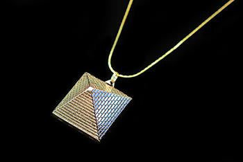 Pyramid Pendant with Opening Locket - Vintage