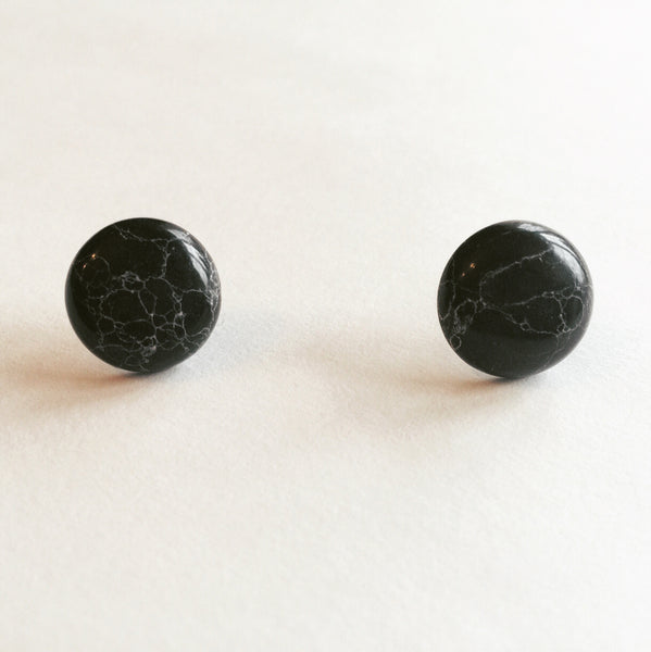 Black Marbled Studs