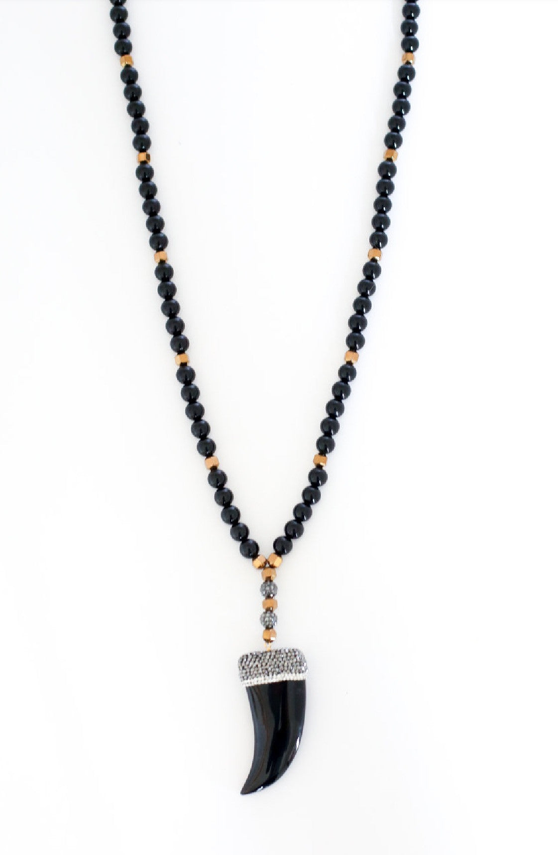 Onyx Horn Necklace