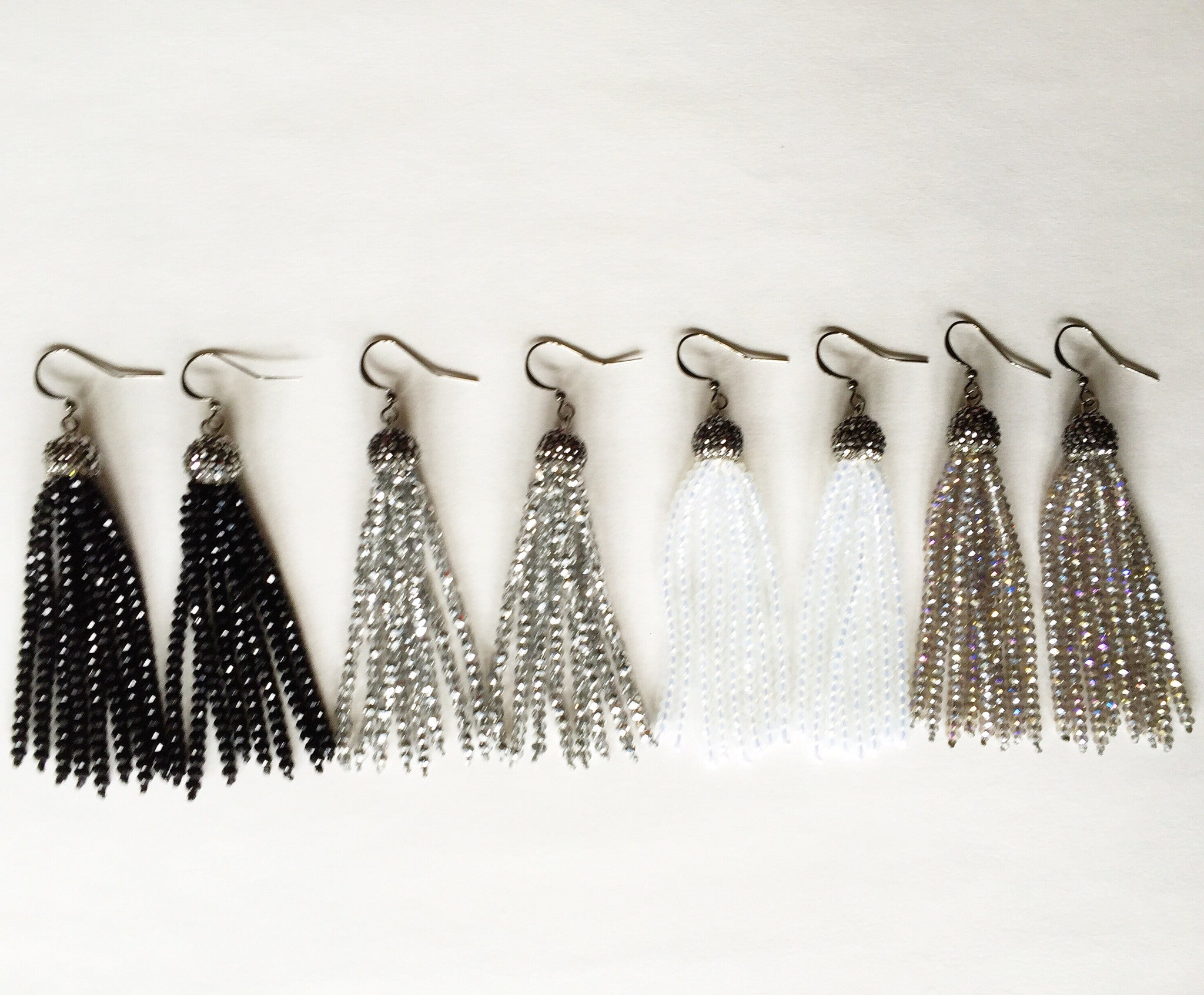 Well-liked Silver Beaded Tassel Earrings – Indian Summer Collection MV89