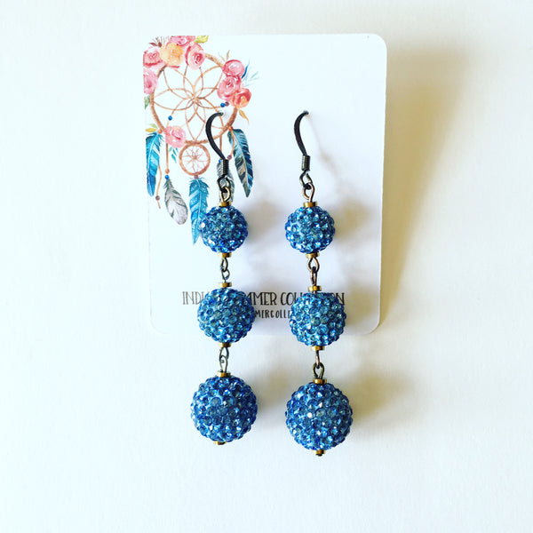 Blue BonBon Earrings