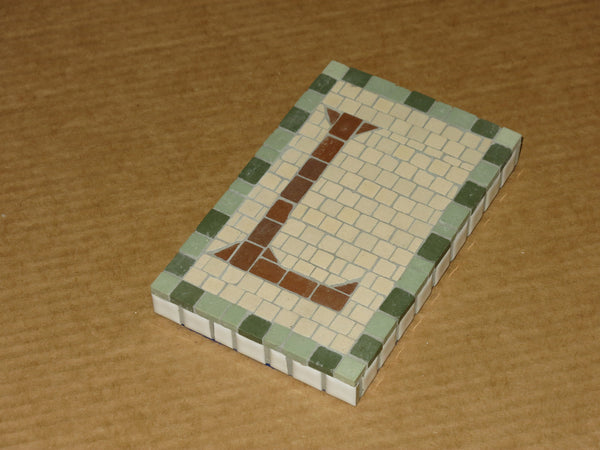 "Custom Made NYC Subway Letter/Number Mosaic - 5"" x 8"""