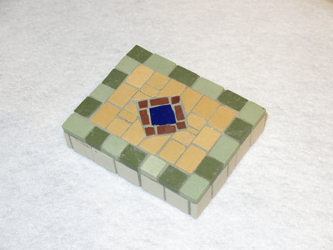 Mosaic Detail with Glass Blue Tile - Small