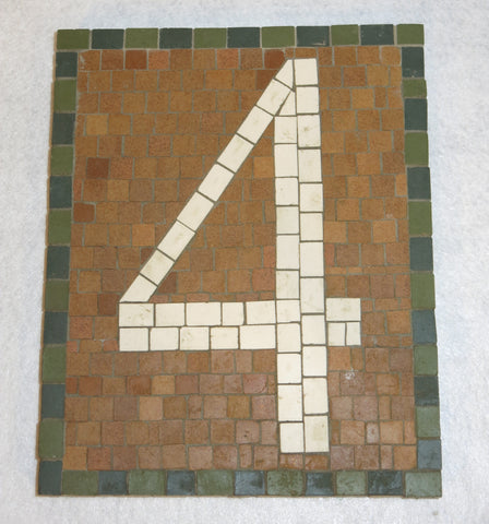 Custom Made NYC Subway Letter/Number Mosaic