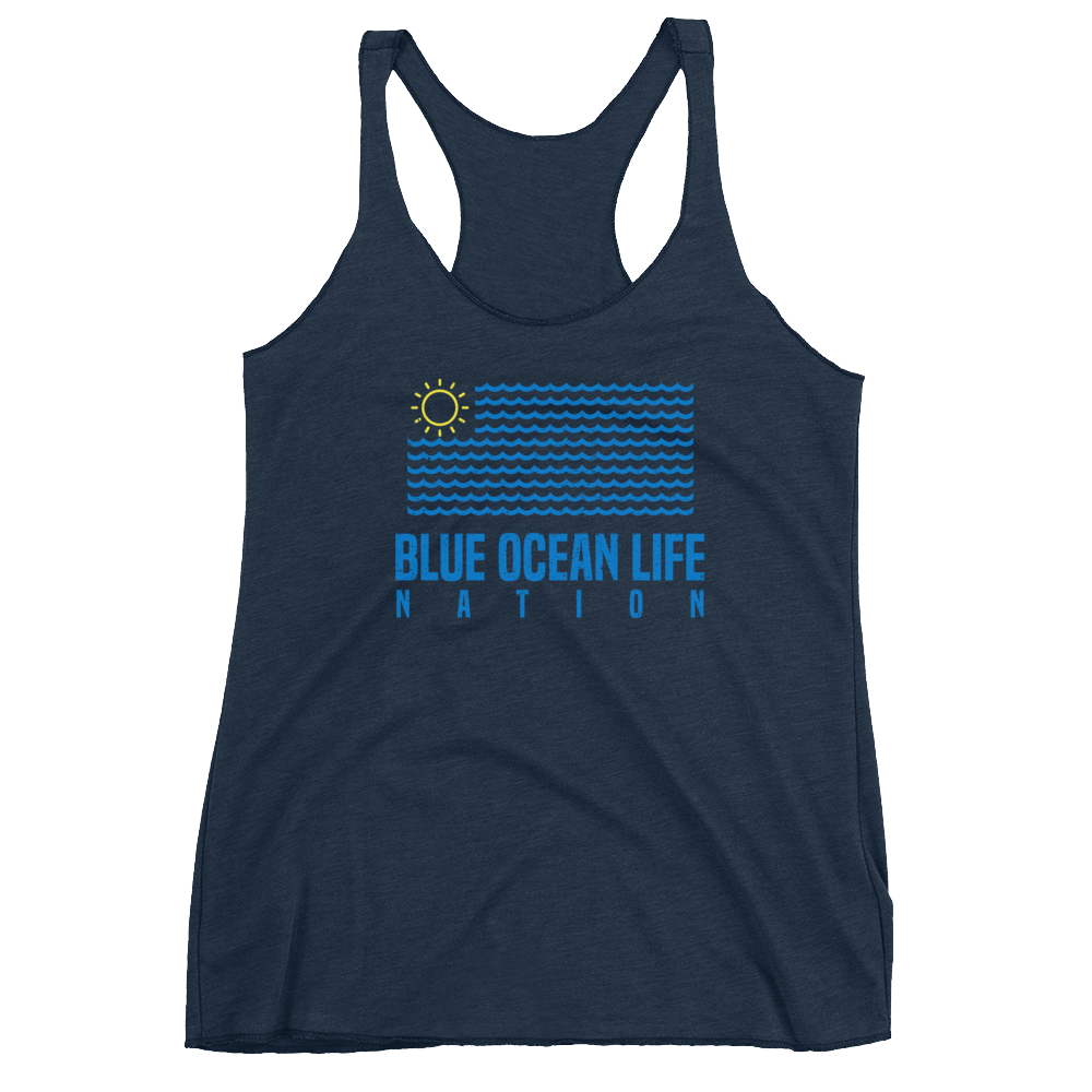 blue ocean life women's tank top