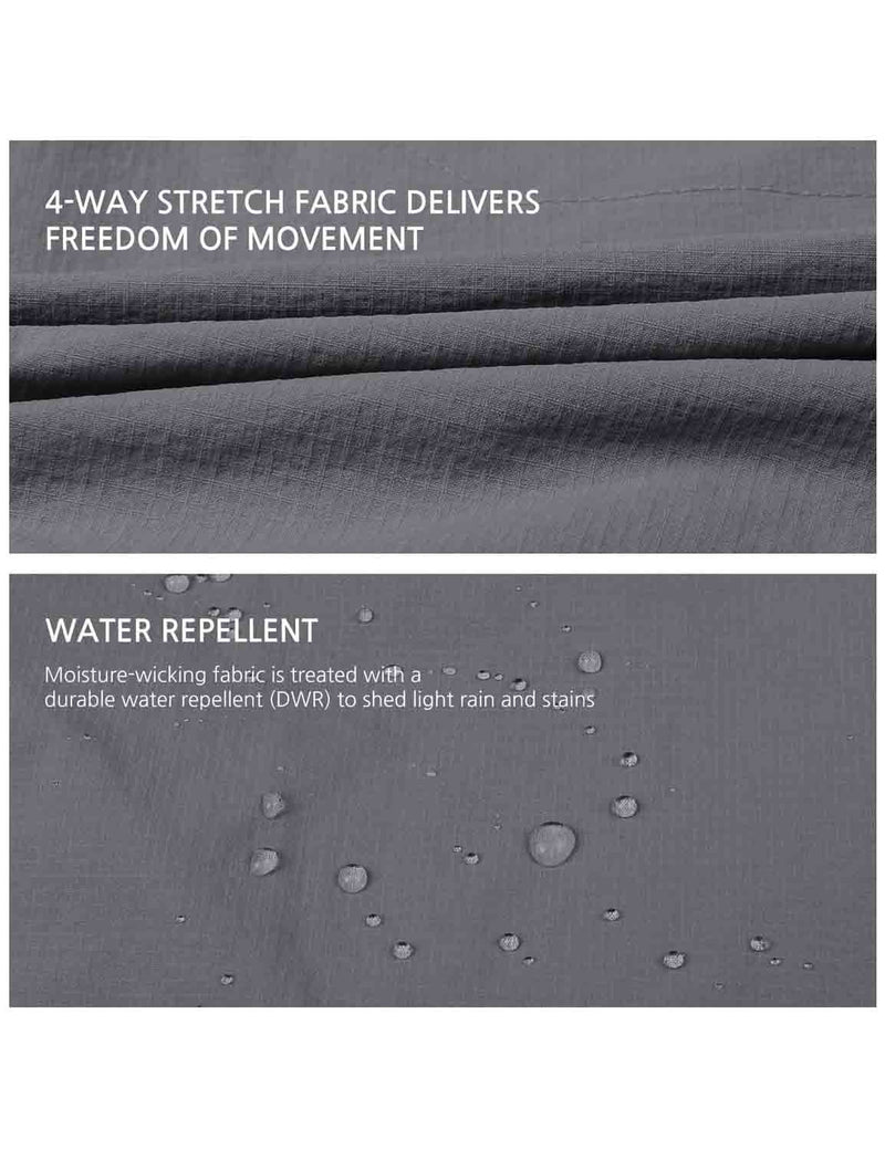 Baleaf Womens UPF 50+ Water Resistant Outdoor & Hiking Athletic Stretch Pants Gray details