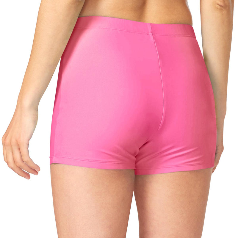 "Baleaf Women 3"" Fully Lined Basic Shorts pink back"