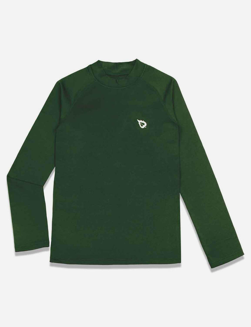 baleaf boys Thermal Mock Neck Long Sleeved Compression Shirt army green front