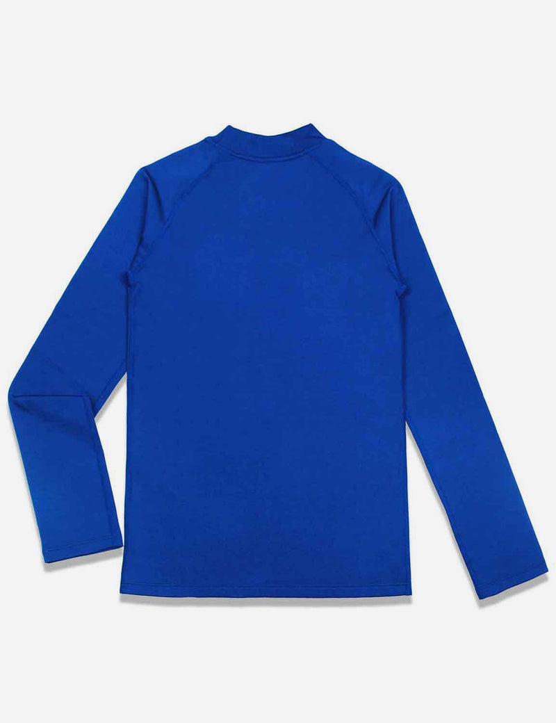 baleaf boys Thermal Mock Neck Long Sleeved Compression Shirt royal blue back