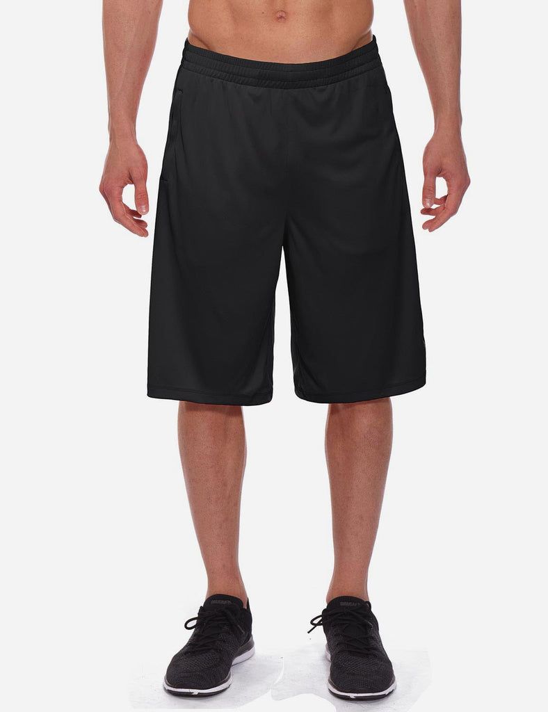 Men's Athletic Basketball/Training Shorts with Zipper Pockets
