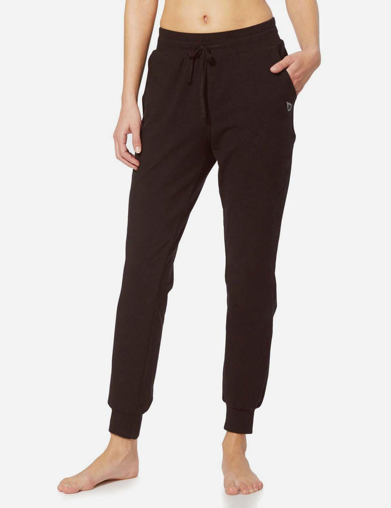 Baleaf Womens Tapered Drawcord Pants coffee side