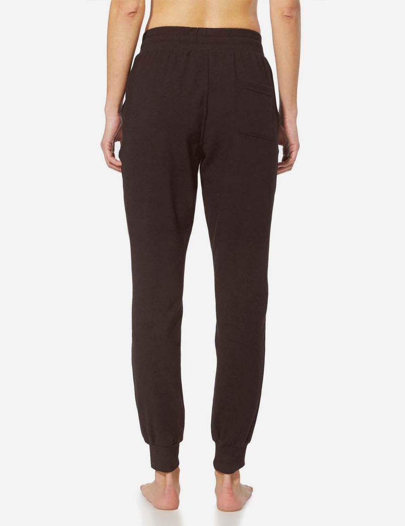 Baleaf Womens Tapered Drawcord Pants coffee back