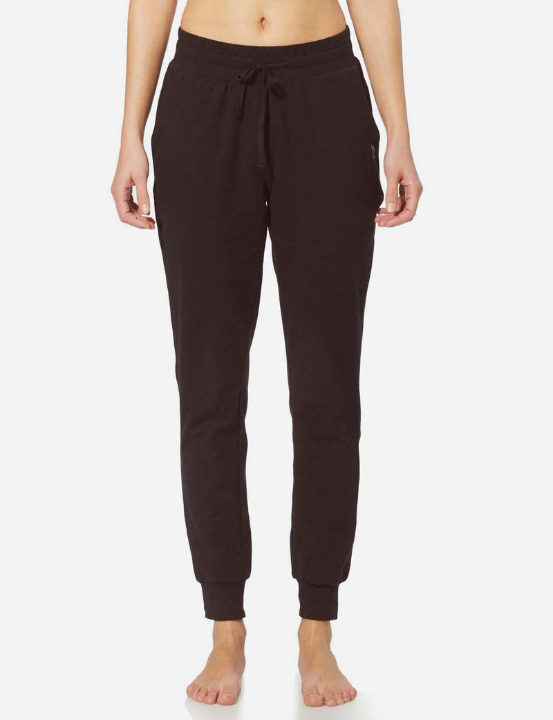 Baleaf Womens Tapered Drawcord Pants coffee front