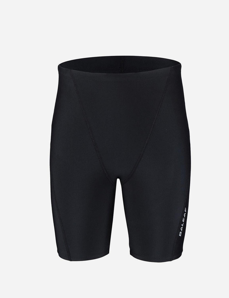 Baleaf Boy's UPF 50+ Sun Protective Quick-Dry Compression Swim Shorts black black front